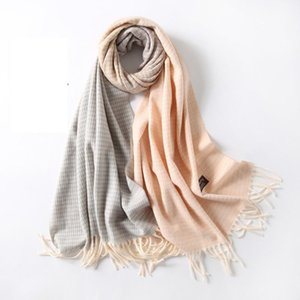 Winter Scarf For Women Cashmere Shawls Scarves Wraps Letter Print Thick Warm Blanket Female Foulard AD017