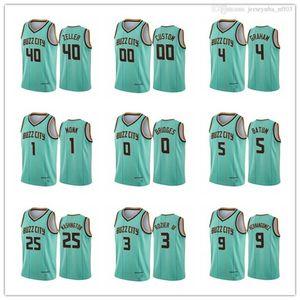 2021 Charlotte Hombres Mujeres Juveniles 2 Willy Hernangomez 1 Cody Zeller Devonte 'Graham 2020-21 Teal Buzz City Basketball Jersey