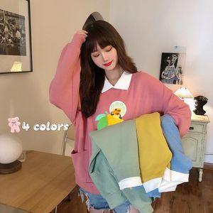 Frog Sweatshirts Pullover Sweatshirt Oversized Winter Clothes Women Hoodie Femme Cotton Long Sleeve Top Cute Hoodies for Girls