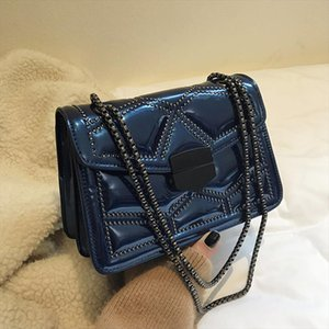 Vintage Rivets Patent Leather Womens Shoulder Crossbody Bags Fashion Ladies Messenger Bag Evening Clutch Female Purses