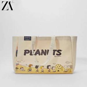 2021 New Snoopy Beach Schulter ZA Cartoon Handtasche Umweltschutz Niedlichen Canvas Bag