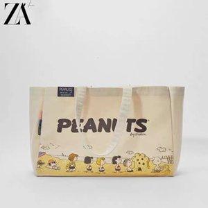 2021 Neue Handtasche Nette Tasche Umweltstrand Snoopy Canvas Schutz Cartoon ZA Schulter XMHQN