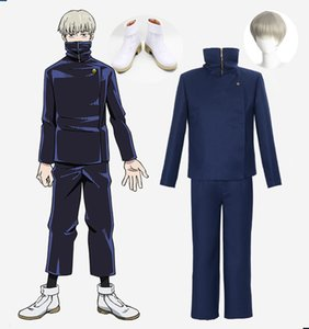 Jujutsu Kaisen Toge Inumaki Cosplay Costume Adult Coat Pants Wig Shoes Men Suit for Halloween Party