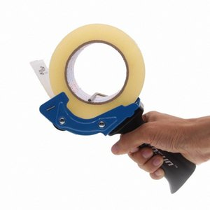 60mm Heavy Duty Tape Gun Dispenser Lightweight Handheld Tape Cutter for Carton, Packaging and Box Sealing; Random Color EDxi#