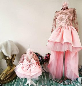 Gorgeous Flower Girl Dress With Big Bow Mummy Daughter Birthday Party Gowns Kids Formal Wears For Special Occasion