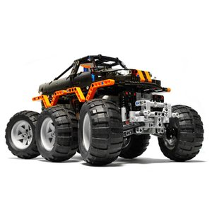 Bigfoot Monsters Racing Off-road Vehicle Truck RC Car Model Technic MOC Building Blocks Bricks Kids Radio Control Toys Xmas Gift C0119