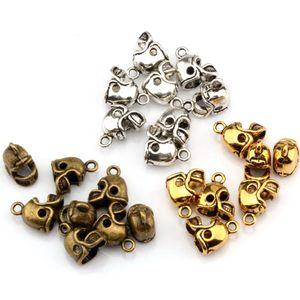 150 adet Antik Gümüş Bronz Altın 3D Küçük Futbol Kask Charms Kolye Kolye Bilezikler için Takı Yapımı Zanaat El Yapımı 13x11mm