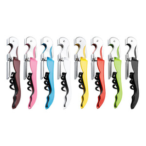 New Wine Beer Corkscrew Stainless Steel Bottle Opener Knife Pull Tap Double Hinged Corkscrew Creative Promotional Gifts