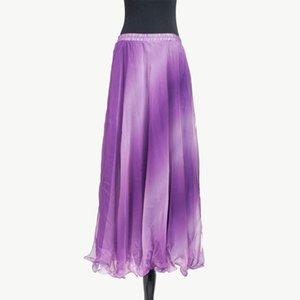 Women Soft Chiffon Belly Dancing Skirt Tribal Long Maxi Skirts Lady Side Split Belly dance Costume Sexy Dress Oriental Costumes