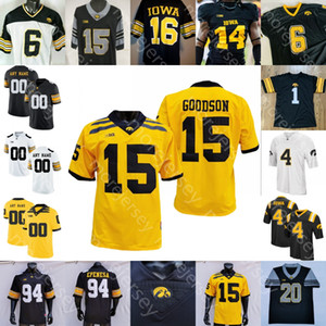 Personalizado Iowa Hawkeyes Fútbol Jersey NCAA Universidad Nate Stanley Sargent Smith-Marsette Toren Young Goodingon Nico Ragaini Smith Tracy Jr. Welch