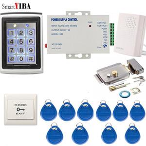 SmartYIBA Metal Waterproof Door Access Control System+10pcs RFID Keys Gate Opener Max Up to 2000 Users Password Door Lock Kits