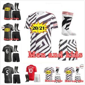 ADULT KIDS KIT 20 21 RASHFORD POGBA FERNANDES Van de Beek Manchester soccer United jersey 2020 2021 MAN GREENWOOD utd football shirt