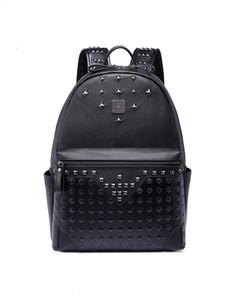 Large capacity famous designer rivet Punk style high quality men shoulder backpack school student bookbag brand daypack hot sale travel bags