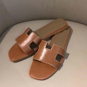 Neue Frau Slipper Designer Slipper Superior Qualität Echtes Leder Mode Casual Slipper Sandy Flip Flops Größe 34-43 mit Kasten