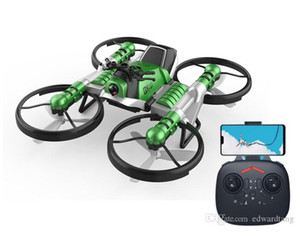 2 In One Remote Control Transformble Quadcopter& Motorcycle Toy, WIFI FPV Aircraft, Altitude Hold Drone 360° Flip, for Xmas Kid Boy Gift,3-3