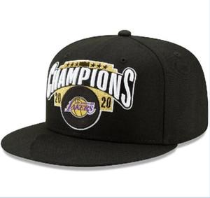 Los Angeles Men Women Cap 2020 Finals Champions Caps Laker Snapback Adjustable Basketball Hat Black