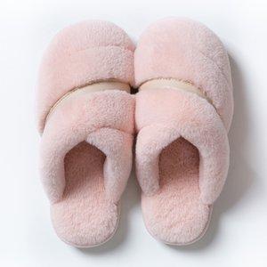Cheap Non-Brand Winter women men Slipper fur flip flops Sandals Indoor Keep Warm Home Shoes Rubber Flat Sandals 37-45 Style 8
