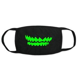 La moitié du néoprène noir gros Garden2010 AznZA Masques Glow Glow dans le crâne à bon marché Designer Glow Mens Skull Masque néoprène demi-Pivi