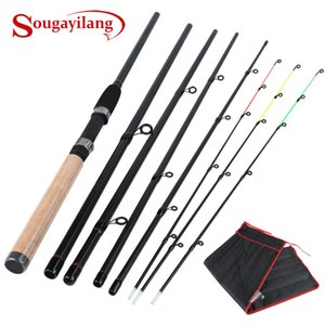 Sougayilang 3M-3.6M Peso ultraligero 2/6 Spinning Sección de carbono del recorrido de Rod Carp Fishing Tackle 201023