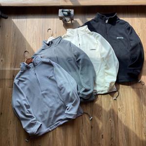 2020 Erkekler Ceket ABD Moda Klasik Marka Kürk Ceketler Rahat Yüksek Kalite İthal Seyahat Açık Polar Half-Zip Kazak 320g Ceket