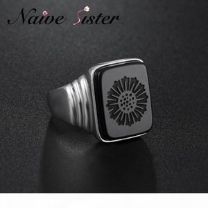 Top Quality Leonardo Dicaprio Ring The Great Gatsby Real 925 Sterling Silver Black Onyx Rings For Men Love Jewelry Wholesale J190626