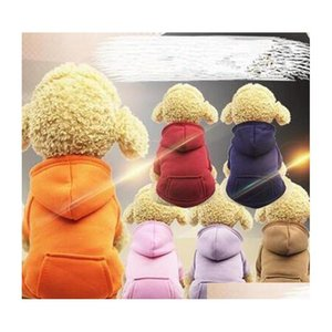 hooded pocket sweater small dogs hoodies coat pocket jackets with sleeve dogs outside travel winter warm clothes pet supplies wy134yhm ZJA3