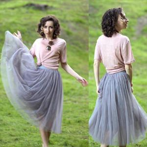 2020 Fashion Summer Tulle Skirt Voile Puffy Tutu Skirts For Women Long Lolita Petticoat Faldas Mujer Saia Longa