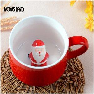 Eco-friendly mamma mano 400ml 3D bella natale caffè tazza tazza stereo forma cartone animato animale cartoon amanti ceramica tazza regalo di natale nave mare GWWE2519