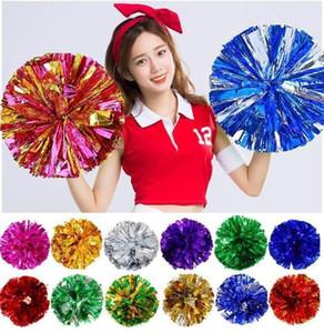 Christmas Party pom poms Cheerleading 50g Cheering pompom Metallic Pom Pom Cheerleading products free shipping