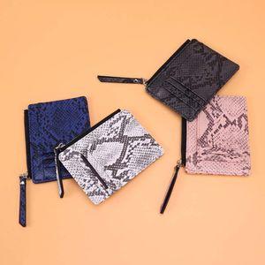 DHL60pcs Lady zipper card bag Serpentine coin purse fashion simple fringe ultra-thin small wallet
