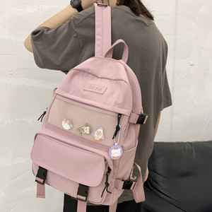 DIFA New Preppy Style Waterproof Nylon Women Backpack Female Multiple Pockets Travel Backpacks Schoolbag for Teenage Girls Q1113