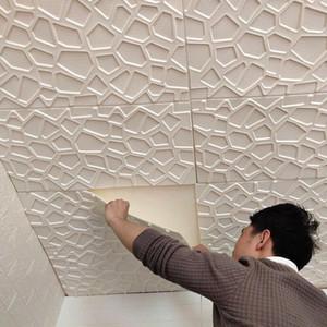 mulit 스타일 3D 벽 스티커 모조 벽돌 침실 장식 거실에 대 한 방수 자기 접착제 벽지 주방 TV 배경 장식