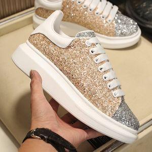 2021 Erkek Platformu Ayakkabı Kadınlar Klasik Perçin Süet Shining Elmas Ayakkabı En Kaliteli Deri Moda Sneakers Trendy Tasarımcı Rahat Ayakkabılar