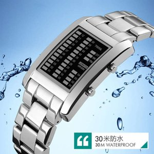 personality LED color creative Metal light fashion electronic men's Waterproof Sports watch EZ1IEU4CEXKK