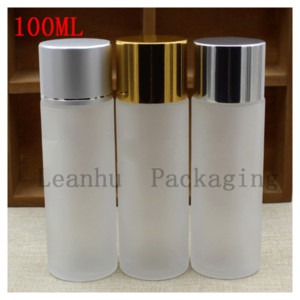 100 ml Pure Dew Bright Skin Water Bottling Skincare Cosmetics Bottles Frosted Glass Bottle cc Shampoo, Shower Gel Container