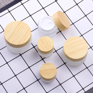 5g 10g 15g 30g 50g 100g Wood Grain Cover Bottle Face Cream Refillable Containers Eye cream bottle Frosted glass botte