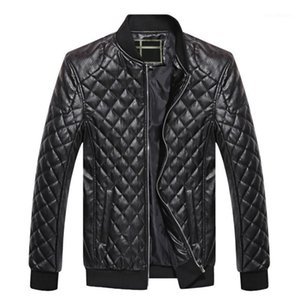 MJARTORIA Mens Leather Jackets Autumn Winter PU Coat Men Plus Velvet Outerwear Biker Motorcycle Male Classic Black Jacket M-4XL1