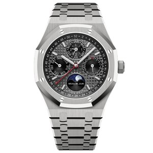 Montre de Luxe Mens Menorica Memory Movimiento Silver Watch 42mm Completo Acero Inoxidable Sapphire Super Luminous 5atm Waterproof Wristwatches
