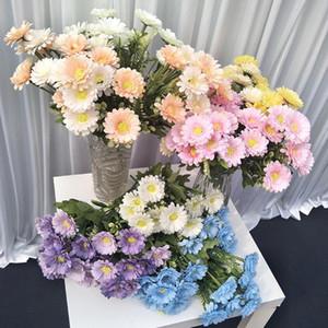 40cm Artificial Beauty Chrysanthemum Bouquet Non-woven Home Wedding Decoration Vase Plug-in Simulation Plant Fake Flower bouquet