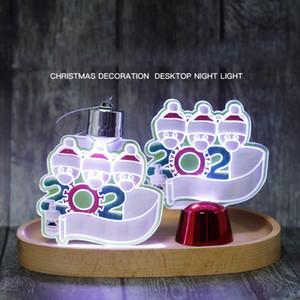 DHL 2020 nuevo popular Led decoraciones de Navidad del muñeco de nieve de iluminación 3D decoraciones de Navidad de la noche de luces colgantes del árbol de navidad