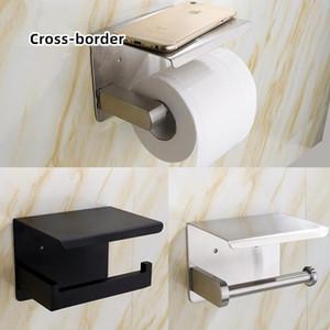 Tuvalet Yaratıcı Tuvalet Kağıdı Sıcak Satış Tutucu Siyah Delikli Rulo Kağıt Tutucu Tuvalet Paslanmaz Çelik Cep Telefonu Kağıt Havlu Tutucu