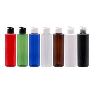 250ml colorato cosmetica di imballaggio di plastica Filp Top Bottle Cap 250cc ricaricabile pet shampoo sapone liquido Contenitore della lozione