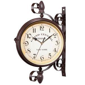 Nuovo orologio European Retro Style Clock Innovative Moda Doppia Parete Orologio da parete Design moderno