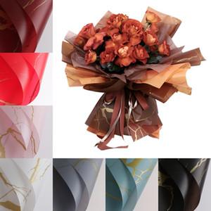 발렌타인 꽃 포장지 방수 대리석 패턴 매트 꽃 꽃다발 포장지 20pcs / lot 60 * 60cm 선물 포장 용지 DHA3200