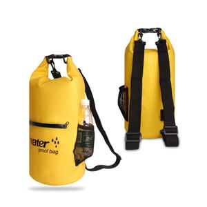 10L 20L Outdoor Waterproof Swimming Bag Folding Storage Dry Sack Bag for Canoeing Kayak Rafting Diving Sport Bag Travel Kit 201006