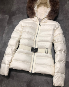 Branded Women Winter Down Jacket Designer Lady Girl Natural Fur Coat Hooded Girl Warm Thick JacketsLQZ4RG3B