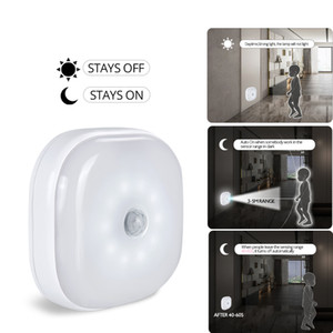 10LEDS استشعار الحركة ليلة ضوء الشريعة خزانة أضواء البطارية بدعم خزانة لاسلكية الأشعة تحت الحمراء كاشف الحركة الجدار مصباح
