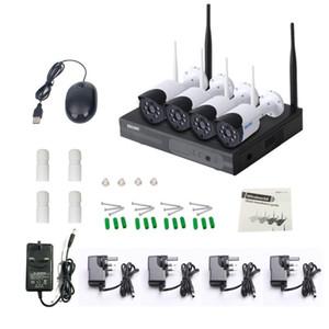 4ch CCTV H265 Home Security Camera Alarm System Wireless Wifi IP Camera NVR Kit