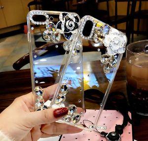 Fashion Luxury Designer Rhinestone Diamond Crystal Camellia Flower Transparent Case For Iphone 11 Pro Max X Xr Xs qylHiN dh_niceshop