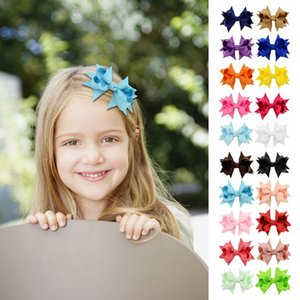 10pcs Grosgrain Ribbon Boutique Bows Alligator Hairpin Clip For Teens Baby Girls